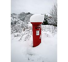 Snowy Postbox Photographic Print