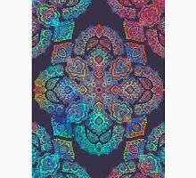 rainbow blacklight neon fractal floral pattern trip Unisex T-Shirt