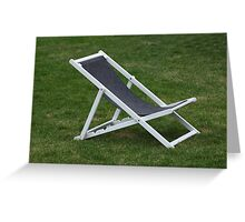 deck chair Greeting Card