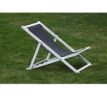 deck chair Photographic Print