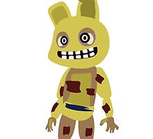 Five Nights at Freddy's - Springtrap Cute Cartoon Chibi by truefanatics
