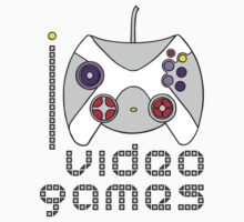 I LOVE VIDEO GAMES T-shirt Kids Tee