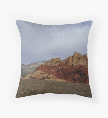 Cloudy Red Rock Throw Pillow