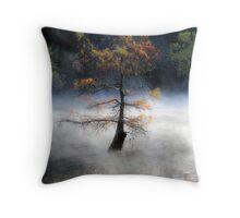 In The Autumn Mist Throw Pillow