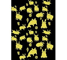 Weebeasts (yellow) Photographic Print
