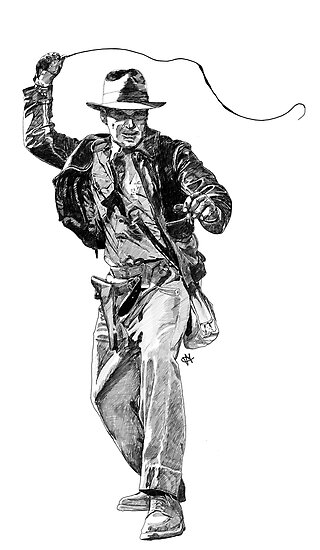 Indiana Jones Hand-drawing by ilmagatPSCS2