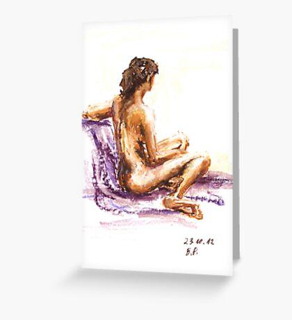 Nude 23-10-12-3 Greeting Card