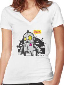 KLBTS. Women's Fitted V-Neck T-Shirt