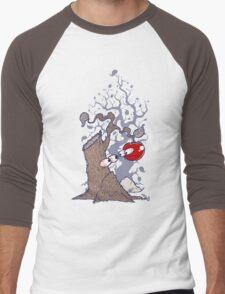 Tree and Apple Men's Baseball ¾ T-Shirt
