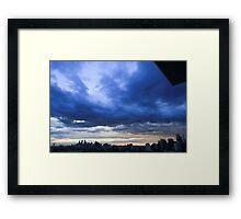 Early morning sky over Sydney, Australia Framed Print