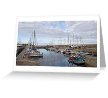Lossiemouth West Beach Marina Greeting Card
