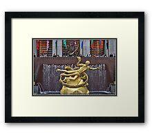 Prometheus at 30 Rock Framed Print