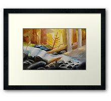 Gravity Falls Forest River Background Framed Print