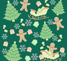 Sleighing with Gingerbread Man #4 by simplepaperplan
