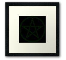 Earth Green Wicca Pentacle Framed Print