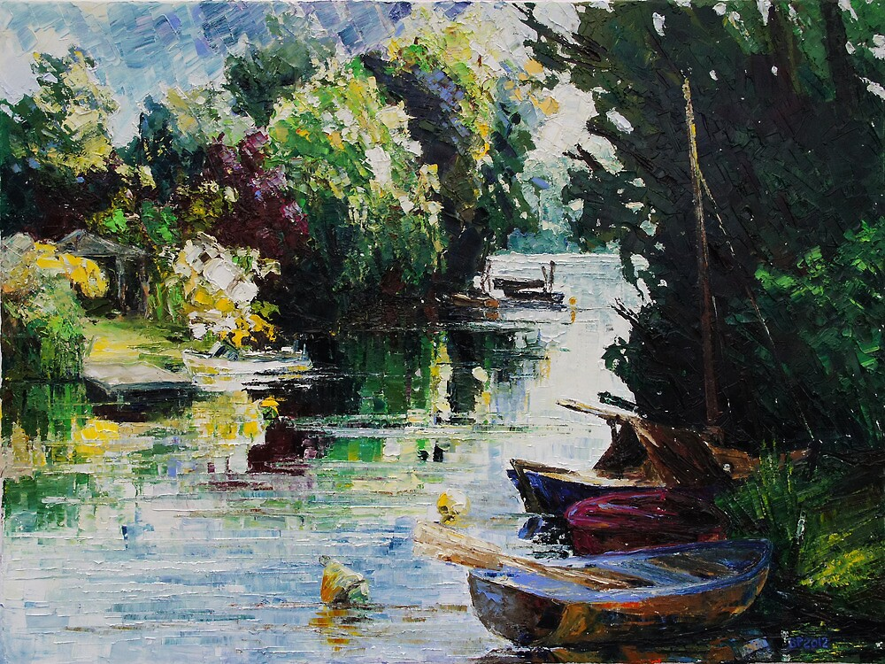 Summer At The Creek by Barbara Pommerenke