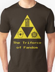 The Triforce of Fandom (Superwholock) T-Shirt