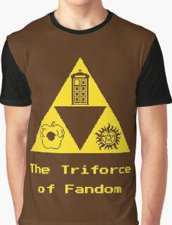 The Triforce of Fandom (Superwholock) Graphic T-Shirt