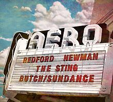 Aero Theater Marquee by Anthony Ross