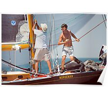 Busy Foredeck Poster