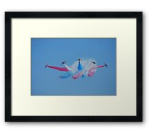 Red Arrows Split Framed Print