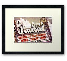 The Blue Bird Motel Framed Print