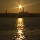 Liverpool Sunrise Over The Mersey by Paul Madden