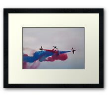 Red Arrows smoke Framed Print
