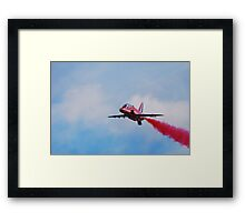 Red Solo Smoke Framed Print