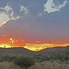 Sunset , Purnululu National Park, Kimberley, Western Australia by Margaret  Hyde