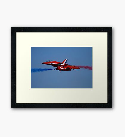 Red Arrows Touch Framed Print