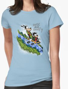 Max and Goofy Womens Fitted T-Shirt