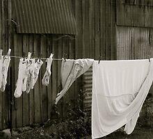 Laundry line   Lavaré, France by rubbish-art