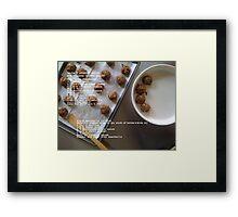 Vegetarian Meatballs Framed Print