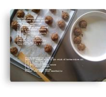 Vegetarian Meatballs Metal Print