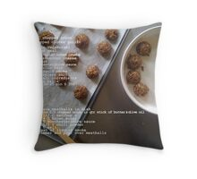 Vegetarian Meatballs Throw Pillow