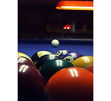 Pool table Photographic Print
