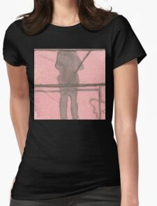 shadow selfie Womens Fitted T-Shirt