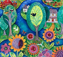 Summer Garden by Janet Broxon