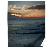 Autumn Shoreline Dusk Poster