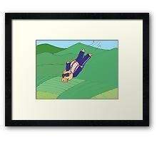 Skydiving Pig Framed Print