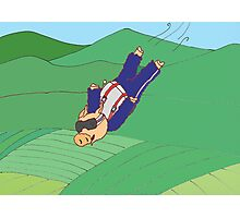 Skydiving Pig Photographic Print