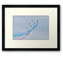 Red Arrows white lines Framed Print