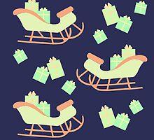 Christmas Sleigh & Presents #2 by simplepaperplan