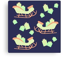 Christmas Sleigh & Presents #2 Canvas Print