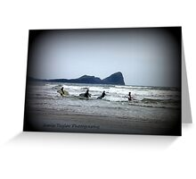worms head surf Greeting Card