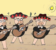 Mariachi Pigs Band by Kerry Cillo