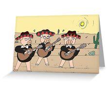 Mariachi Pigs Band Greeting Card