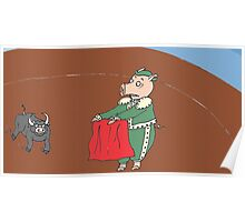 El Matador Pig Poster