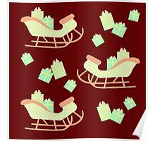 Christmas Sleigh & Presents #3 Poster